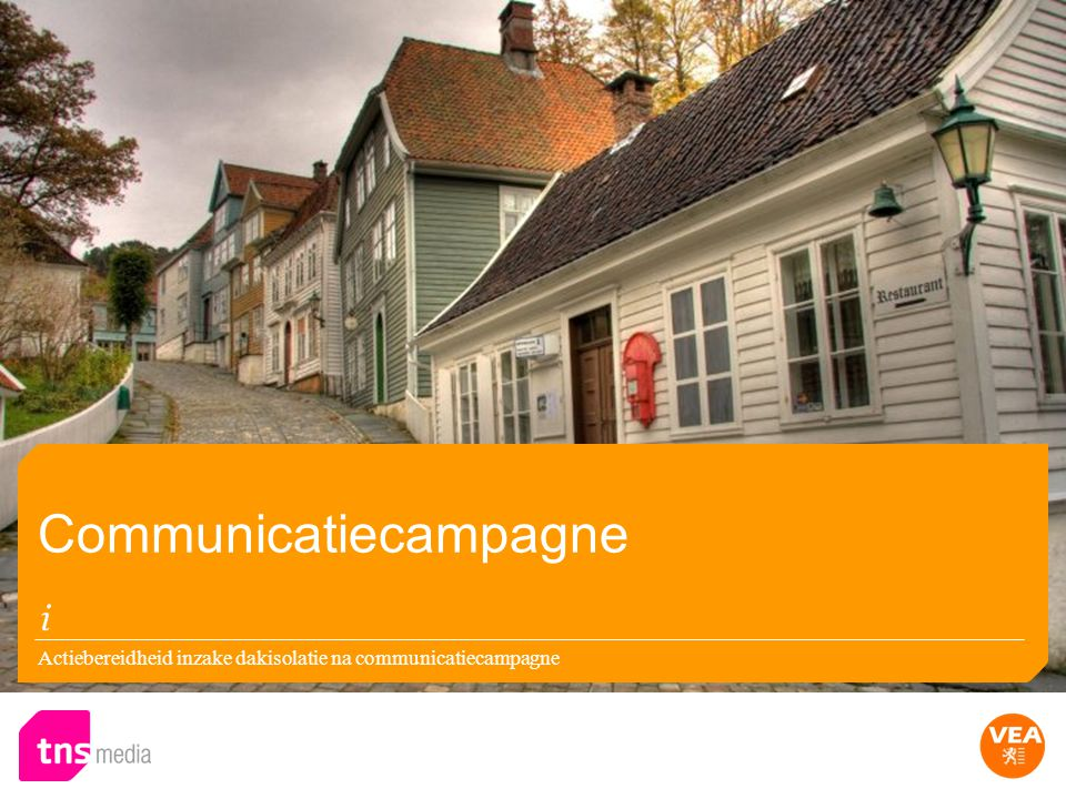 Actiebereidheid inzake dakisolatie na communicatiecampagne Communicatiecampagne