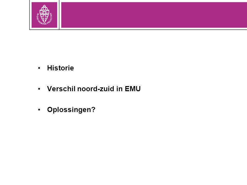 Historie Verschil noord-zuid in EMU Oplossingen?