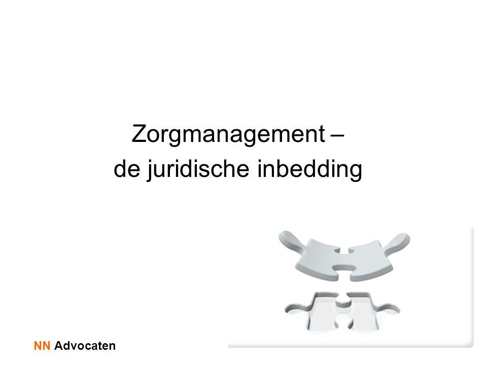 Zorgmanagement – de juridische inbedding NN Advocaten