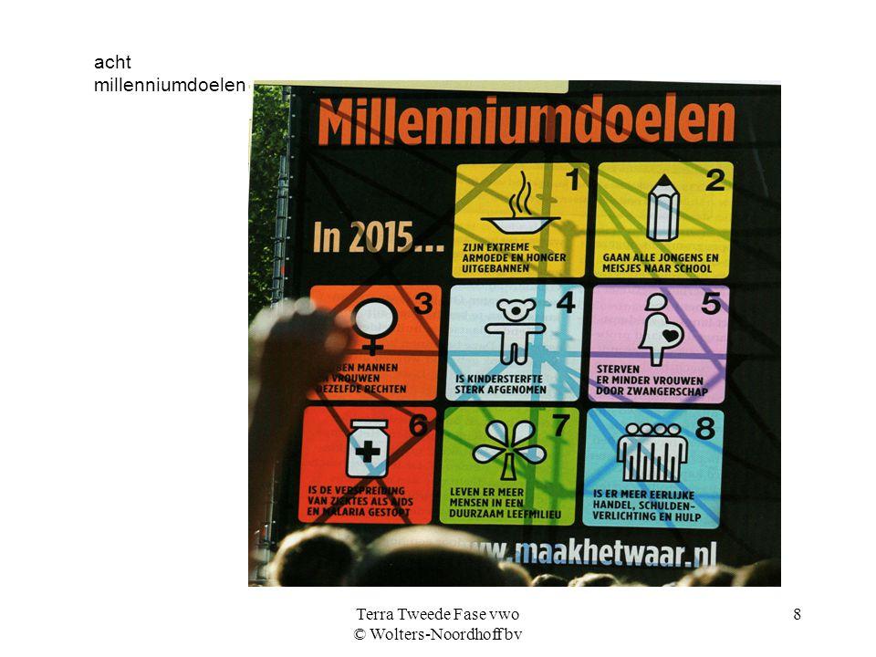 Terra Tweede Fase vwo © Wolters-Noordhoff bv 8 acht millenniumdoelen