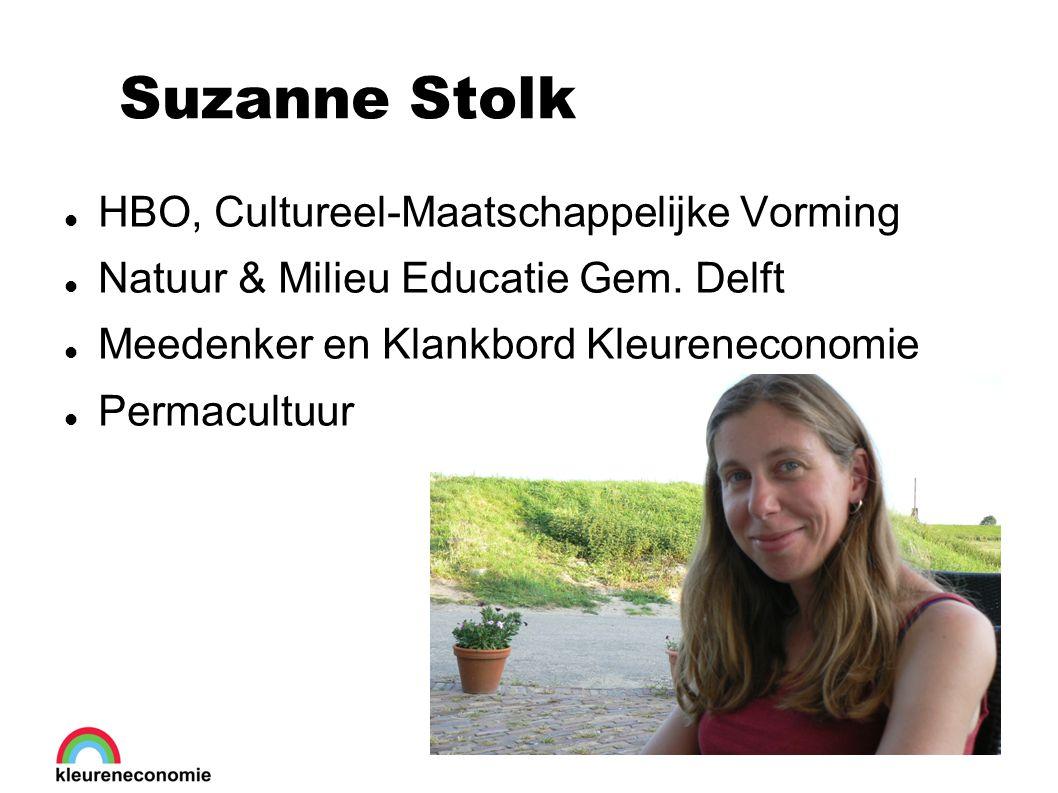 Suzanne Stolk HBO, Cultureel-Maatschappelijke Vorming Natuur & Milieu Educatie Gem.