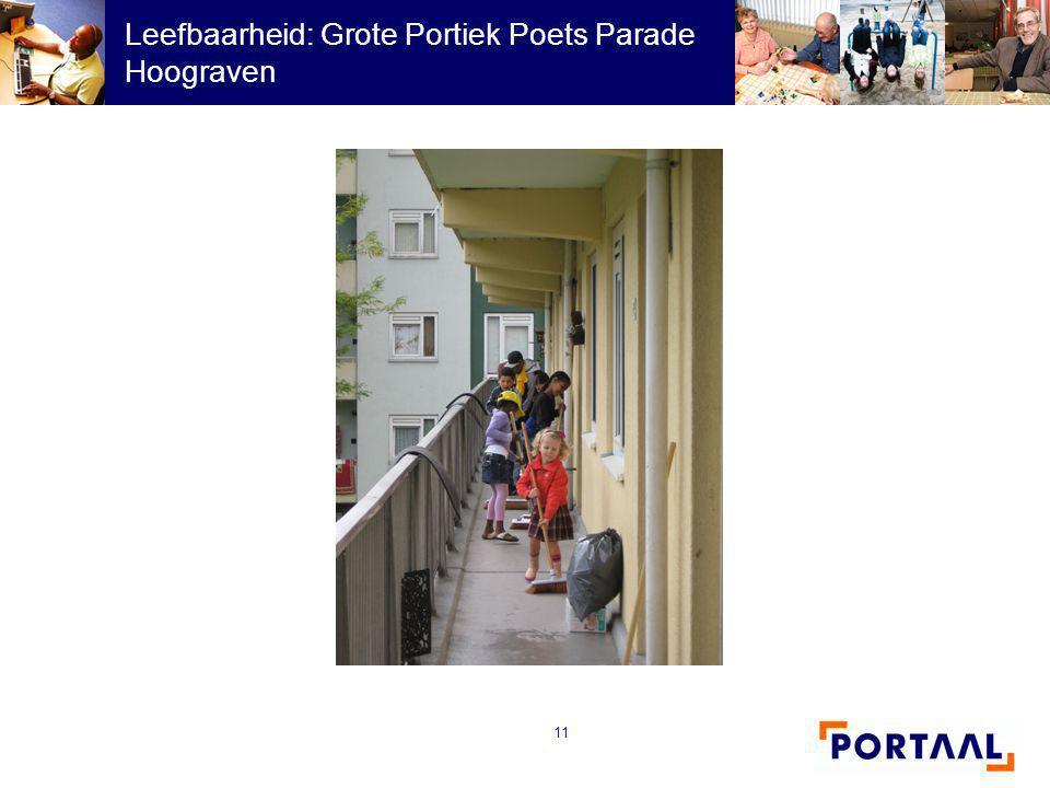 11 Leefbaarheid: Grote Portiek Poets Parade Hoograven