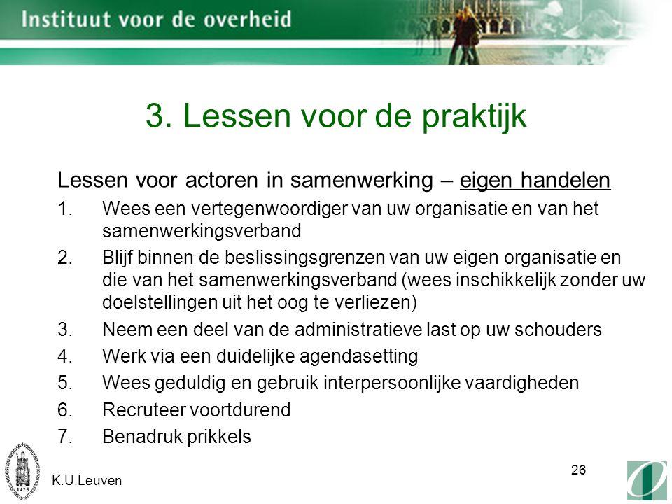 K.U.Leuven 26 3.