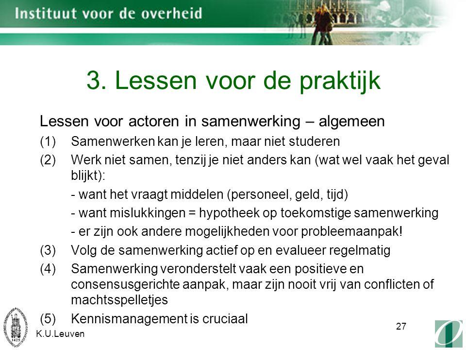 K.U.Leuven 27 3.