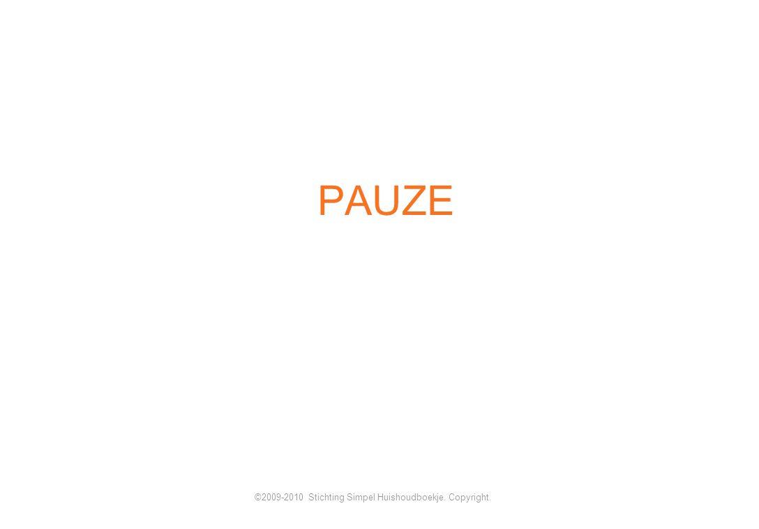 PAUZE ©2009-2010 Stichting Simpel Huishoudboekje. Copyright.