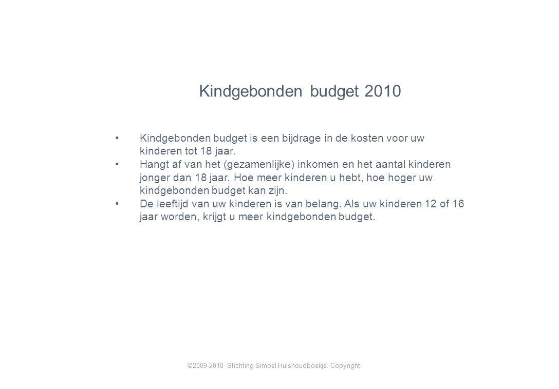 Kindgebonden budget is een bijdrage in de kosten voor uw kinderen tot 18 jaar.
