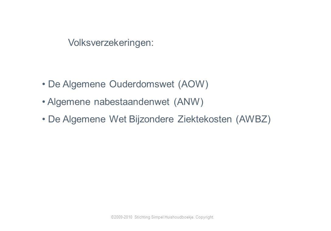 Volksverzekeringen: ©2009-2010 Stichting Simpel Huishoudboekje.