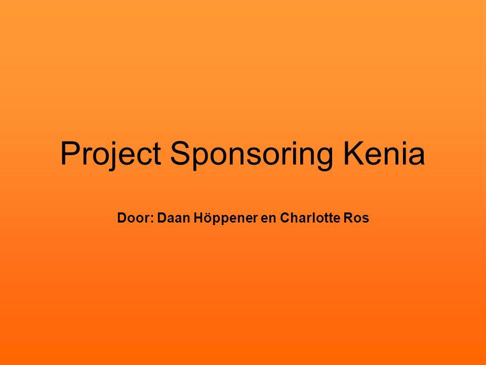 Project Sponsoring Kenia Door: Daan Höppener en Charlotte Ros