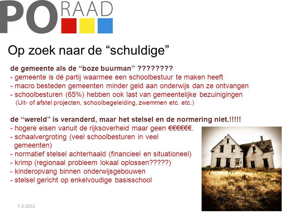 """7-3-20126 Op zoek naar de """"schuldige"""" de gemeente als de """"boze buurman"""" ???????? - gemeente is dé partij waarmee een schoolbestuur te maken heeft - ma"""