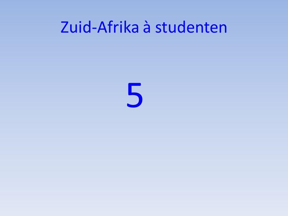 Zuid-Afrika à studenten 5