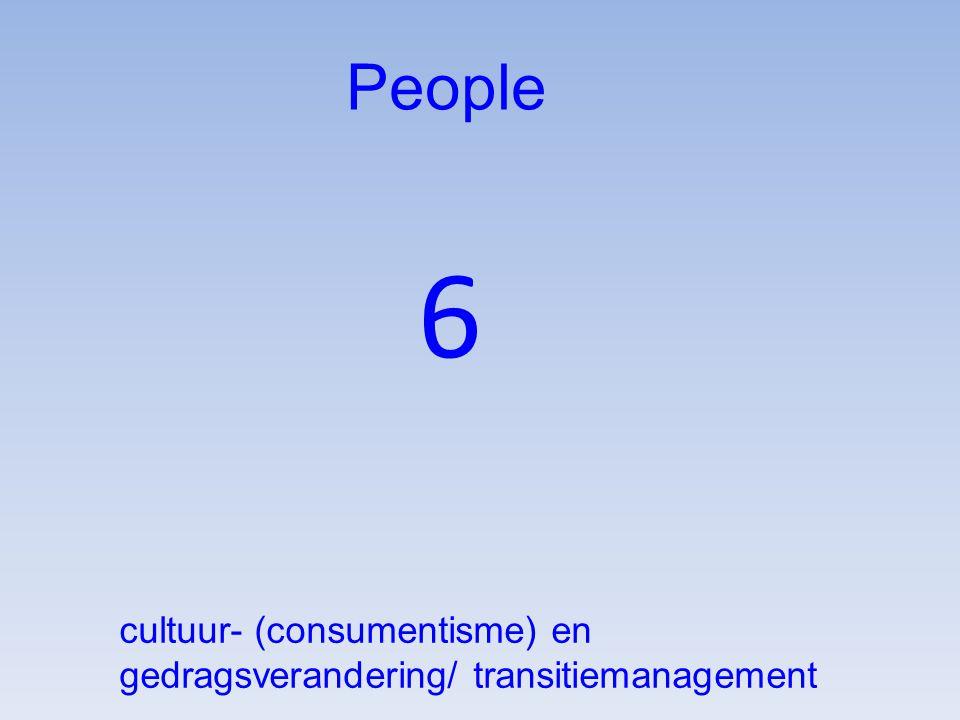 6 People cultuur- (consumentisme) en gedragsverandering/ transitiemanagement