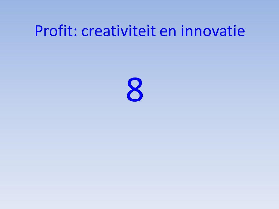 Profit: creativiteit en innovatie 8
