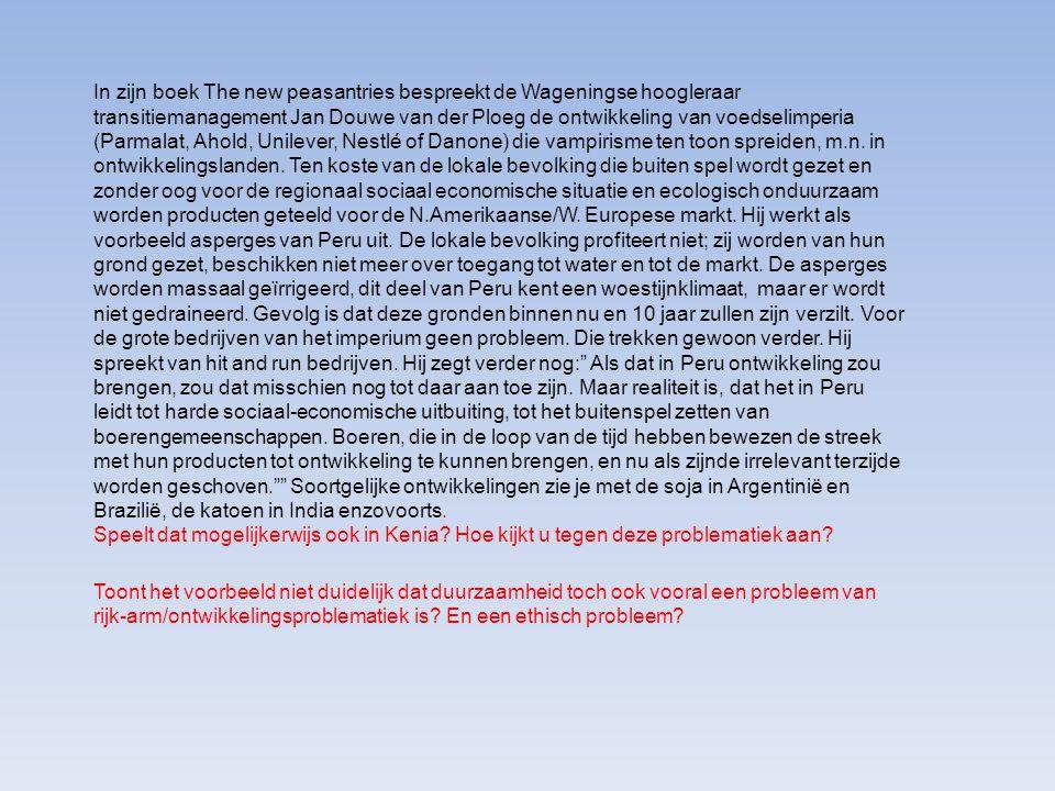 In zijn boek The new peasantries bespreekt de Wageningse hoogleraar transitiemanagement Jan Douwe van der Ploeg de ontwikkeling van voedselimperia (Pa