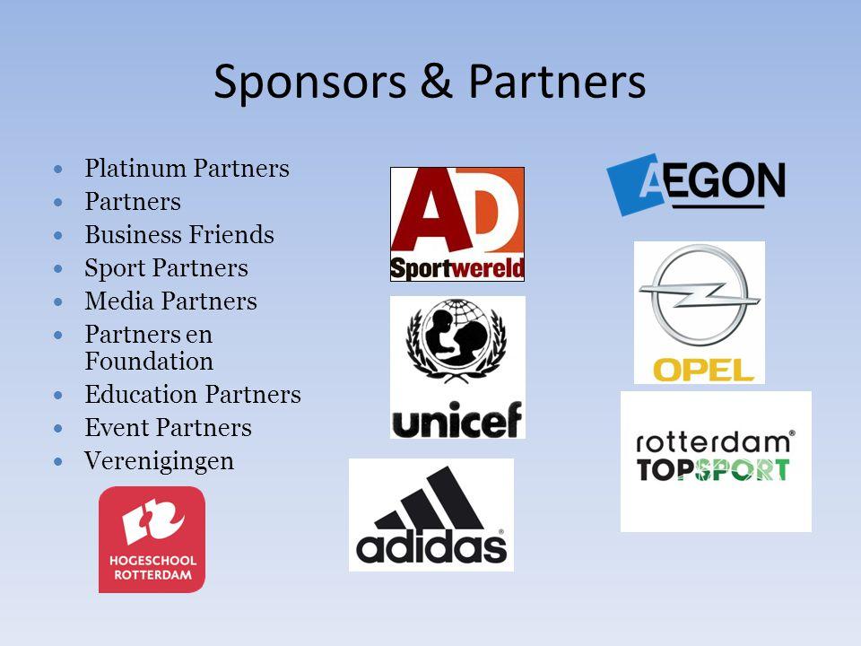 Sponsors & Partners Platinum Partners Partners Business Friends Sport Partners Media Partners Partners en Foundation Education Partners Event Partners