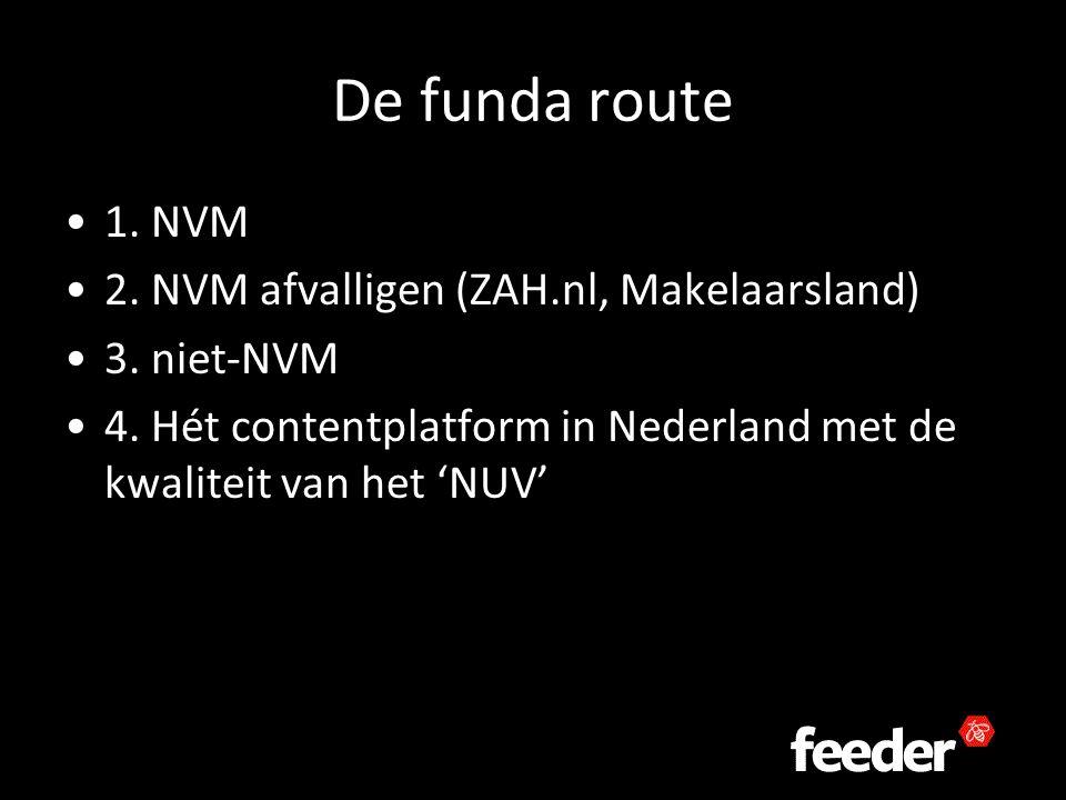 De funda route 1. NVM 2. NVM afvalligen (ZAH.nl, Makelaarsland) 3.