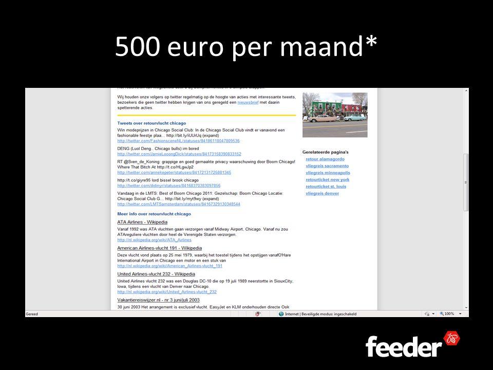 500 euro per maand*