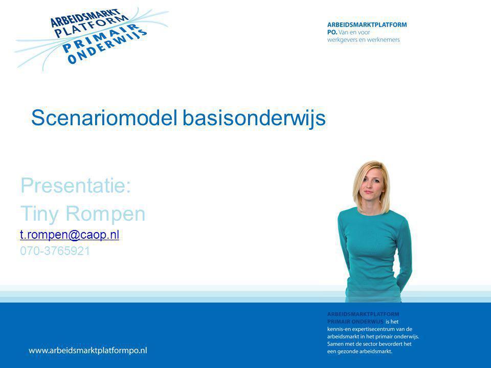 Scenariomodel basisonderwijs Presentatie: Tiny Rompen t.rompen@caop.nl 070-3765921