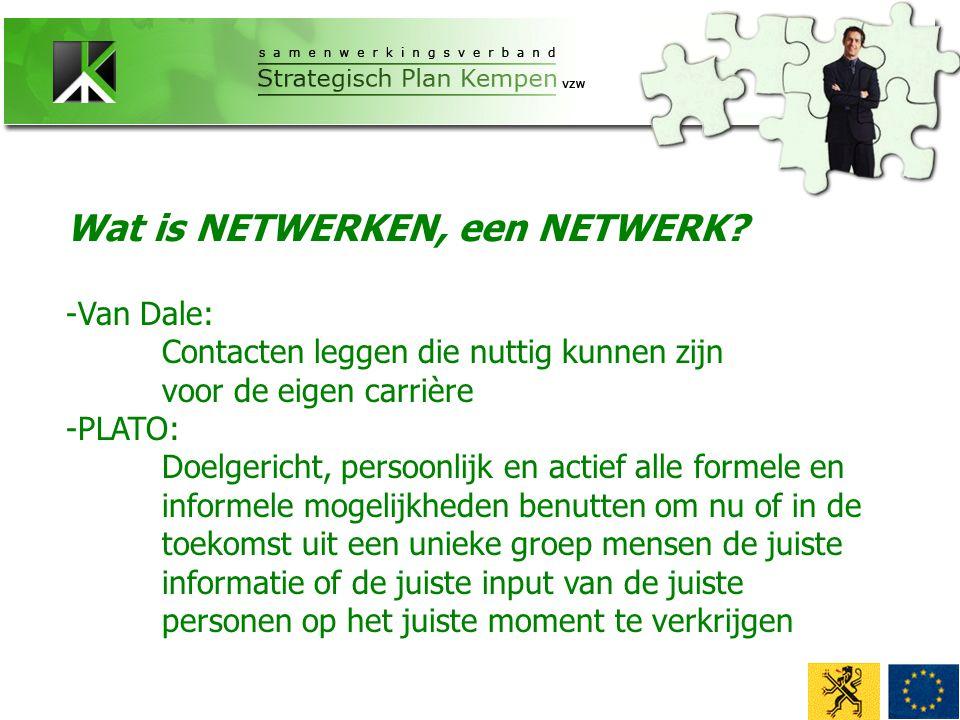 - Informatie - Beïnvloeden van de omgeving - Klanten, leveranciers, personeel - Opvangen gebrek eigen knowhow - Sociale identiteit Waarom puzzelen.