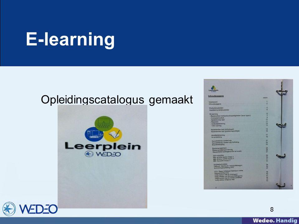 8 E-learning Opleidingscatalogus gemaakt