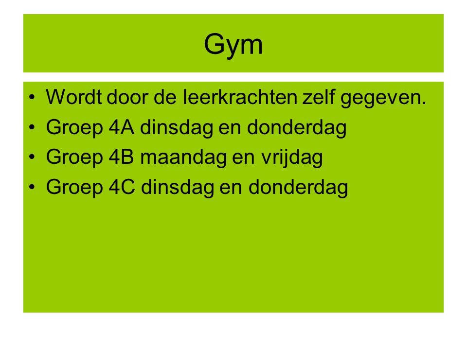 Gym Wordt door de leerkrachten zelf gegeven.