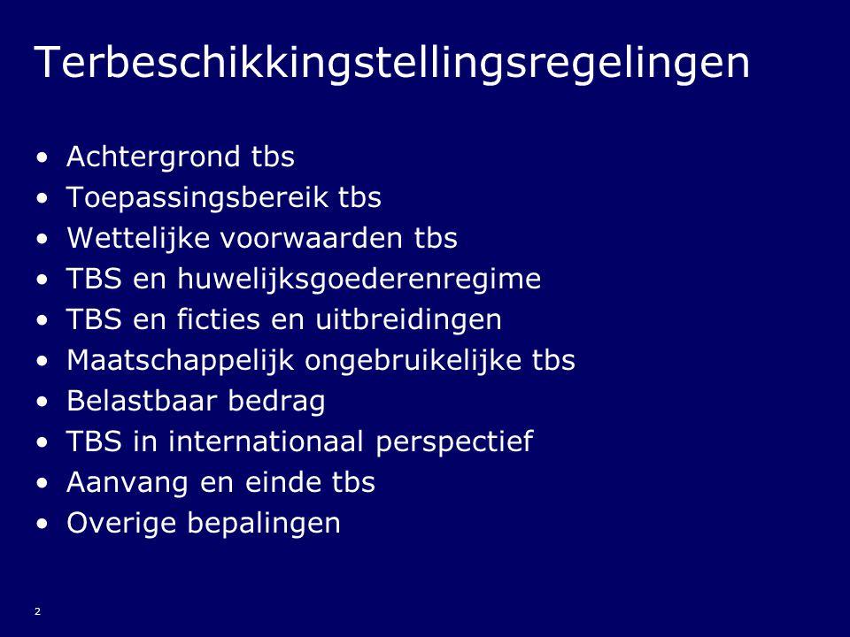 23 Aanvang tbs (5) Bijzondere waarderingsproblemen: - (renteloze)leningen (zie Besl.