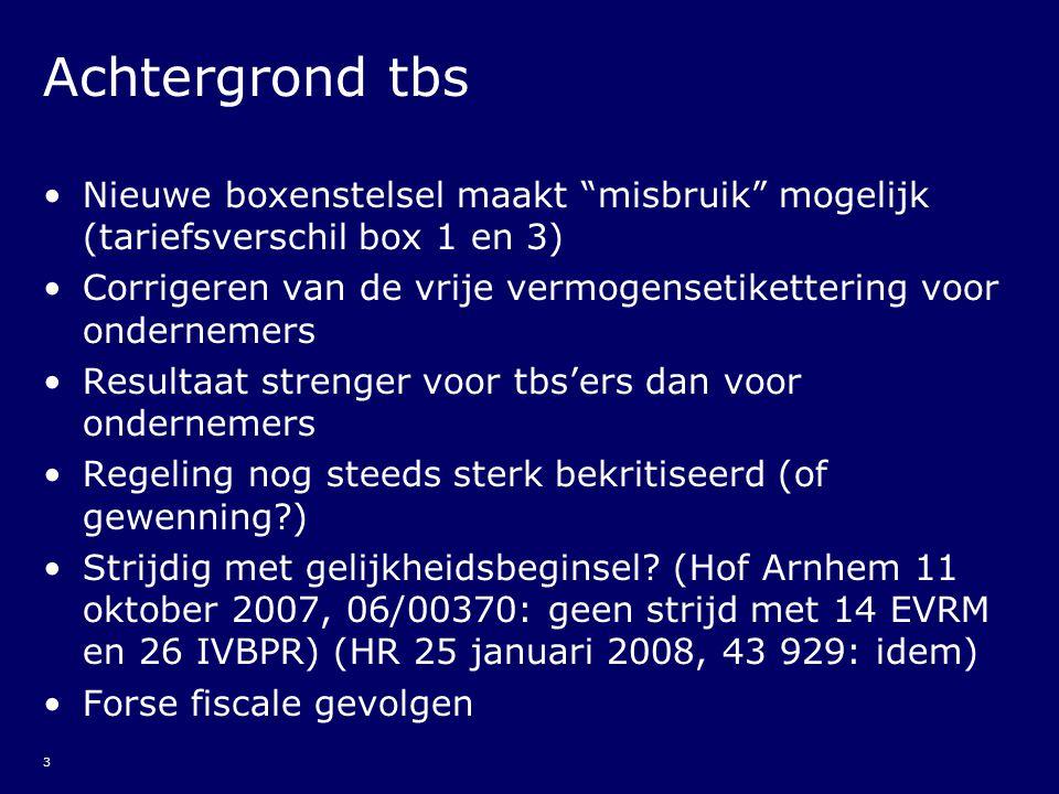 24 Aanvang tbs (6) Aanloopverliesregeling art.3.10 Wet IB van toepassing.