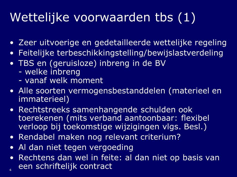 17 Belastbaar bedrag tbs (2) Administratieplicht art.