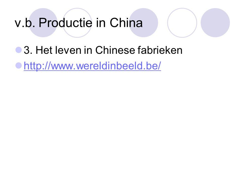 v.b. Productie in China 3. Het leven in Chinese fabrieken http://www.wereldinbeeld.be/