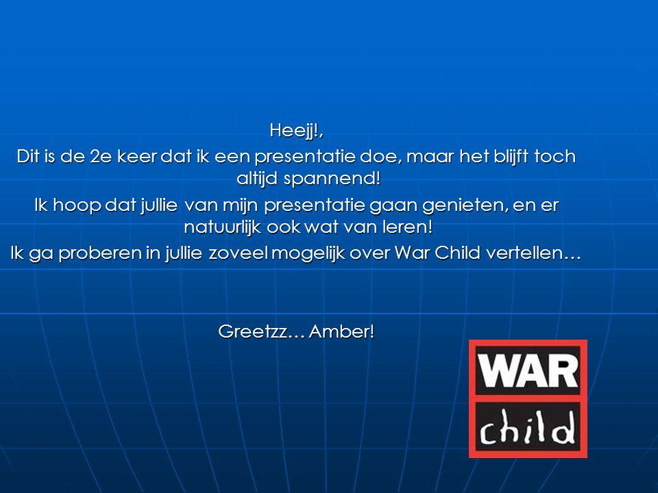 Voorwoord: Waarom heb ik gekozen voor War Child.Veel over gehoord.