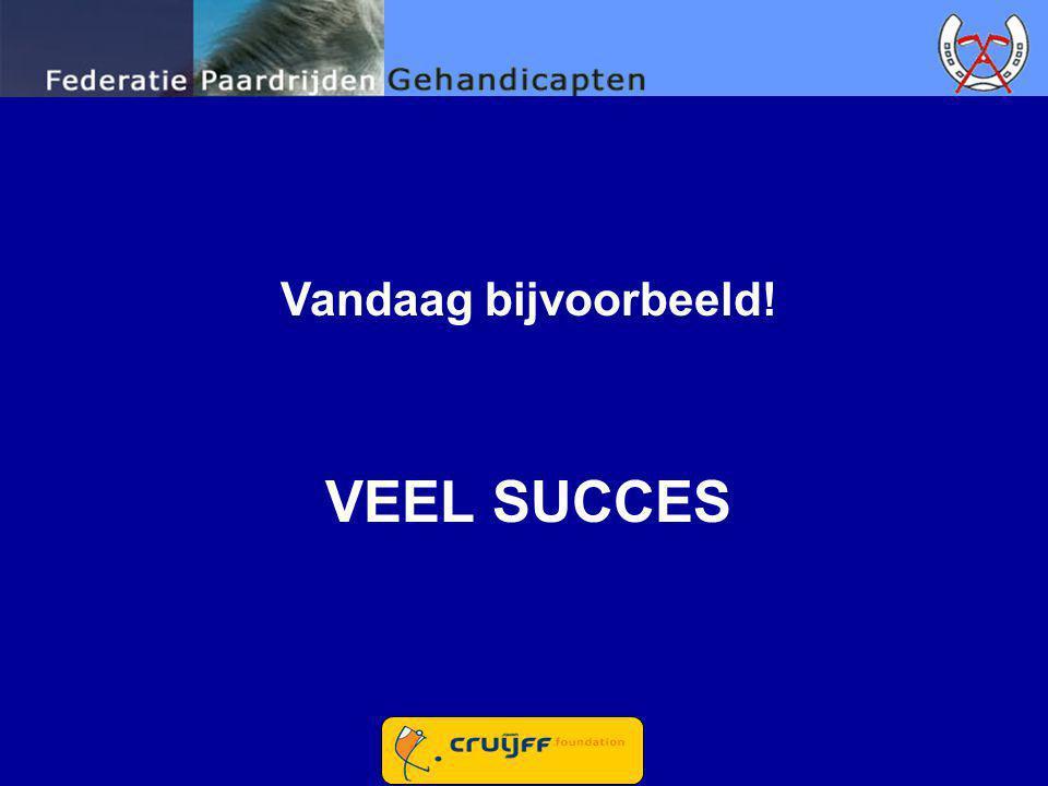 Vandaag bijvoorbeeld! VEEL SUCCES