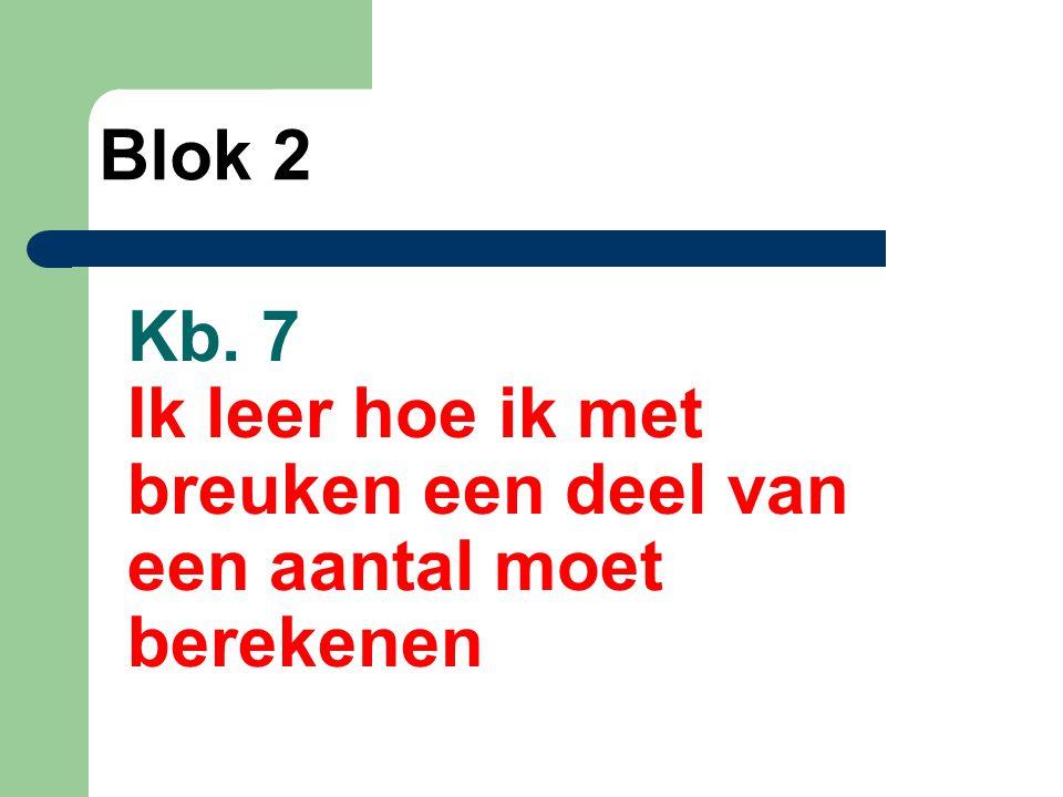 Kb. 8 Ik leer kolomsgewijs delen Blok 2