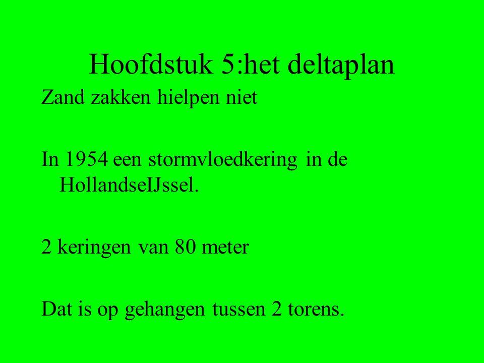 Hoofdstuk 5:het deltaplan Zand zakken hielpen niet In 1954 een stormvloedkering in de HollandseIJssel.