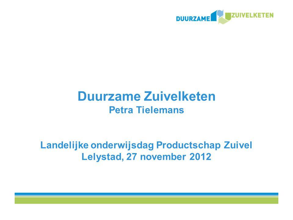 De Duurzame Zuivelketen Een gezamenlijk initiatief van NZO en LTO Nederland Mede mogelijk gemaakt door: