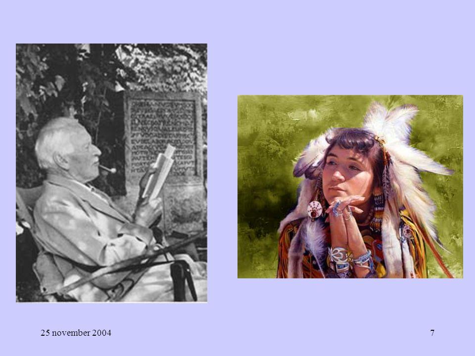 25 november 200418 Orde en licht versus chaos en duister Mannelijk: actief rationeel hiërarchisch deel (analytisch) lineair positie Vrouwelijk receptief intuïtief gezamenlijk geheel (synthetisch) cyclisch relatie
