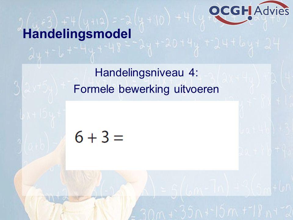 Handelingsniveau 4: Formele bewerking uitvoeren Handelingsmodel