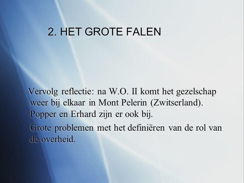 2. HET GROTE FALEN Vervolg reflectie: na W.O.