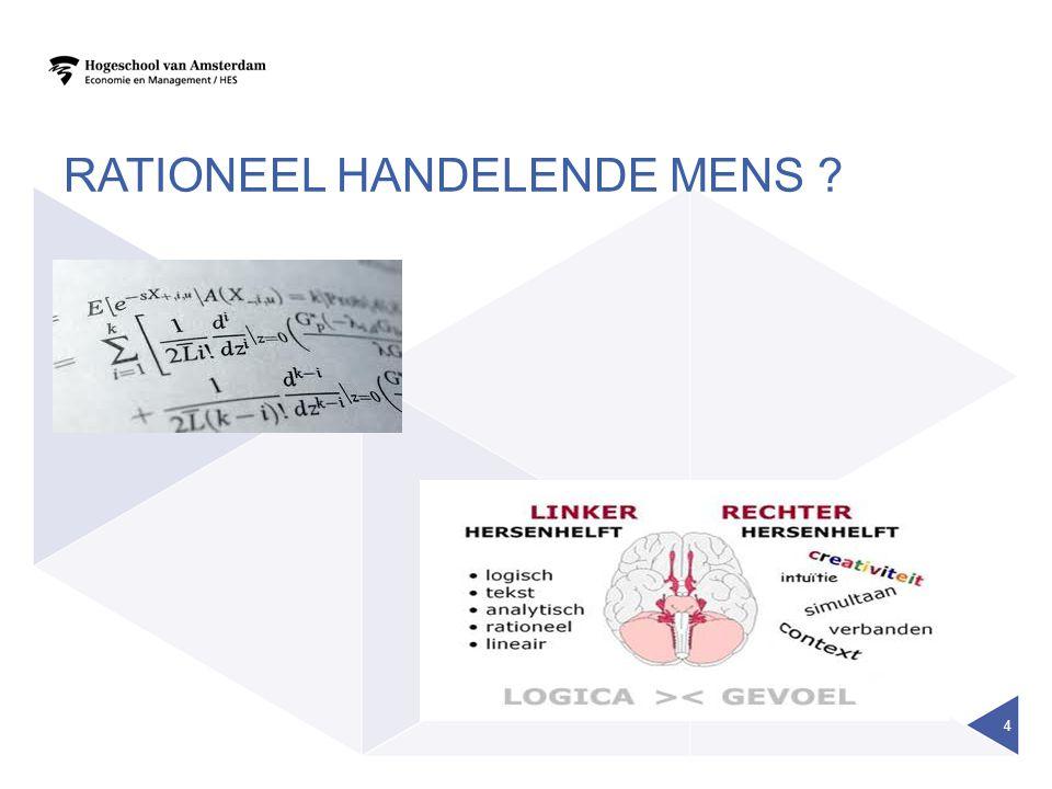 RATIONEEL HANDELENDE MENS ? 4