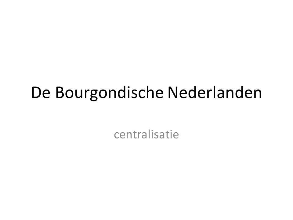 De Bourgondische Nederlanden centralisatie