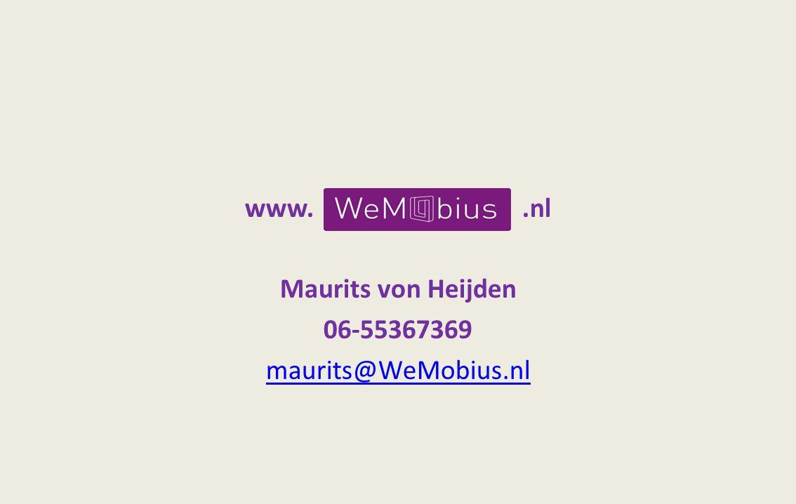 www..nl Maurits von Heijden 06-55367369 maurits@WeMobius.nl