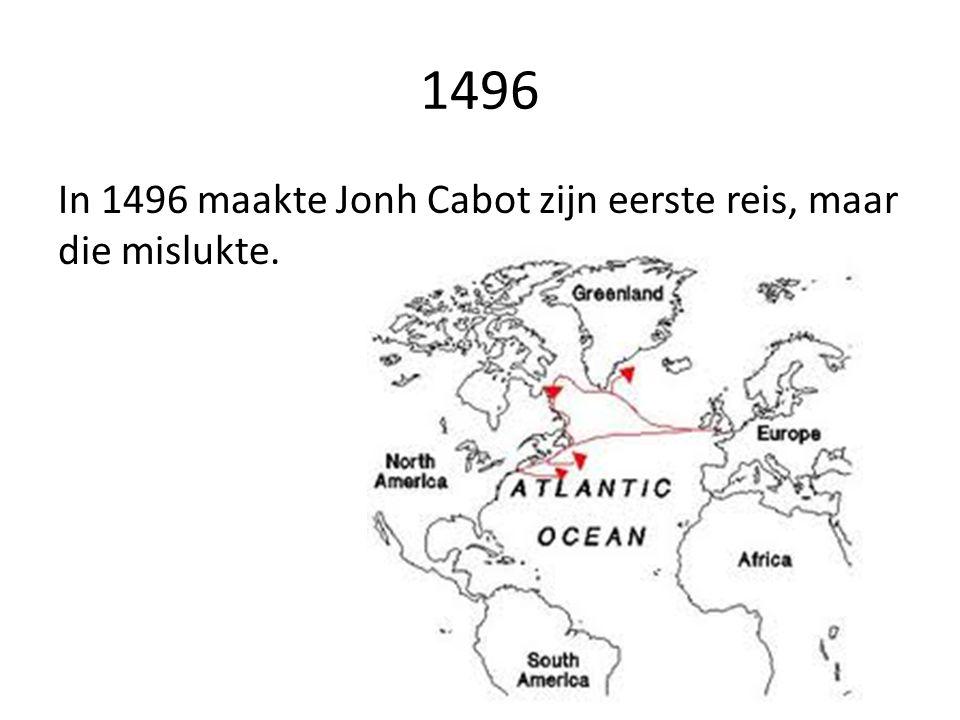 Ontdekking van Amerika In mei 1497 vertrok Cabot met een enkel schip, de Matthew, uit Bristol.