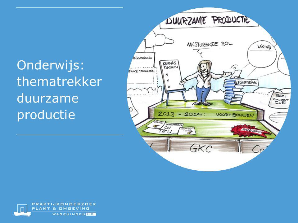 Onderwijs: thematrekker duurzame productie