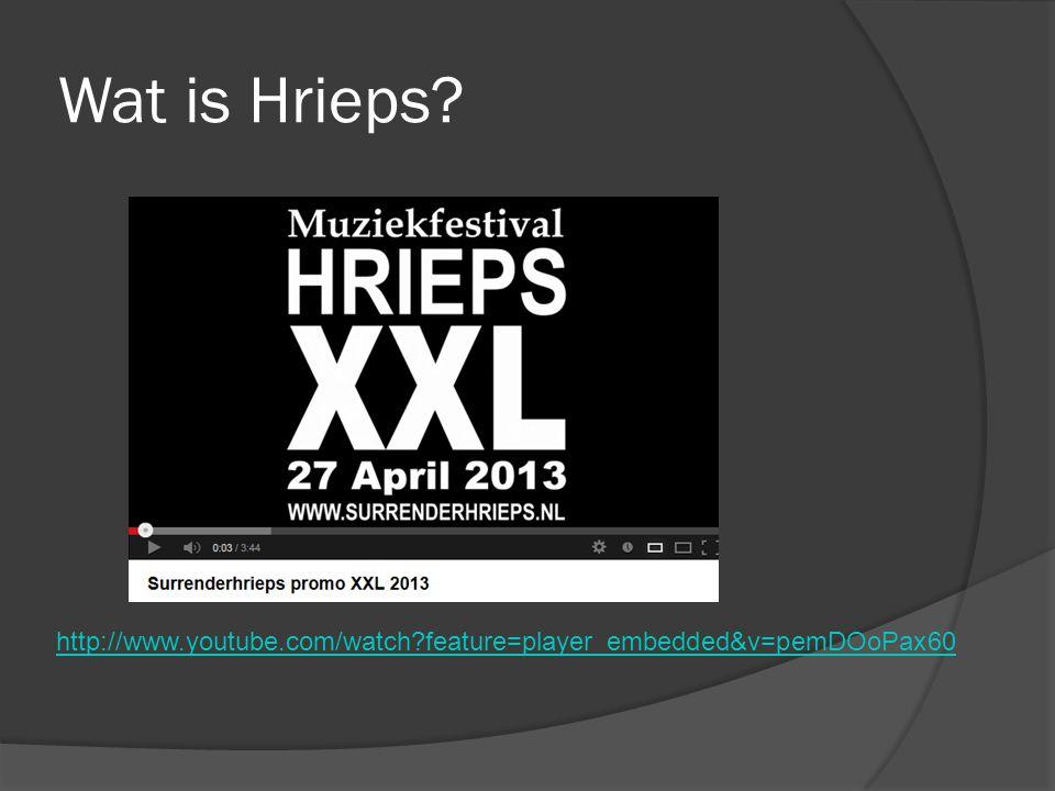 Wat is Hrieps? http://www.youtube.com/watch?feature=player_embedded&v=pemDOoPax60