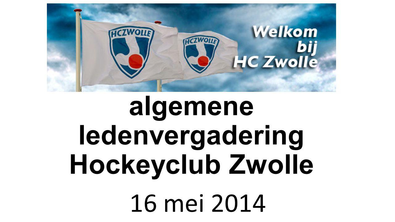 Extra algemene ledenvergadering Hockeyclub Zwolle 16 mei 2014