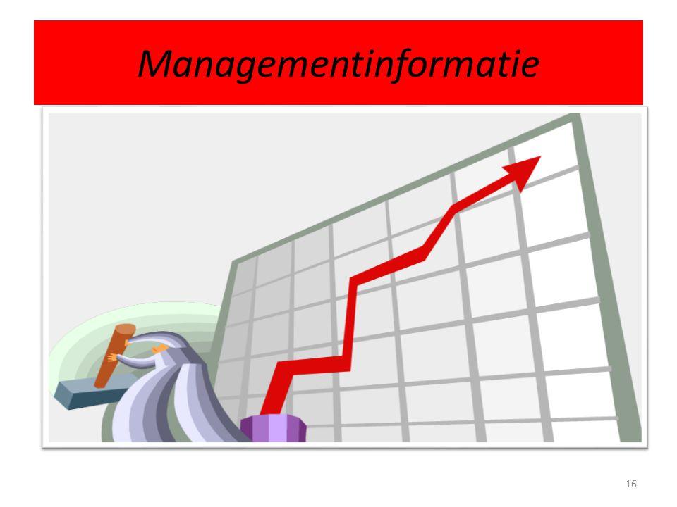 Managementinformatie 16