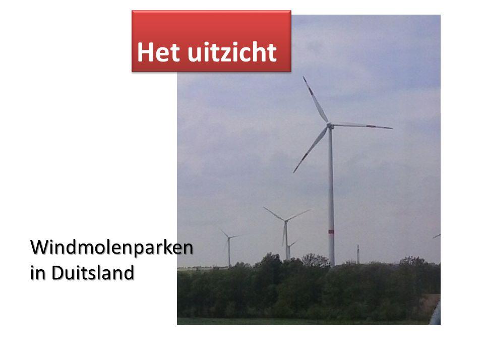 Windmolenparken in Duitsland Het uitzicht