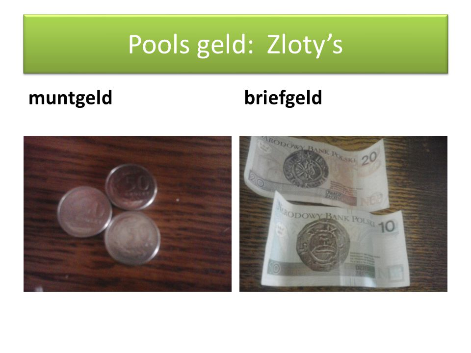 Pools geld: Zloty's muntgeldbriefgeld