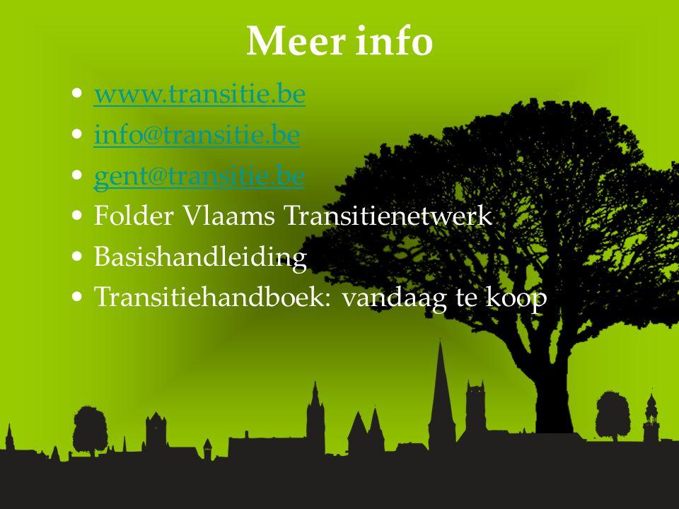 Meer info www.transitie.be info@transitie.be gent@transitie.be Folder Vlaams Transitienetwerk Basishandleiding Transitiehandboek: vandaag te koop