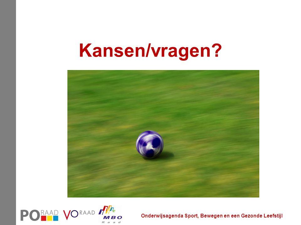 Kansen/vragen? Onderwijsagenda Sport, Bewegen en een Gezonde Leefstijl