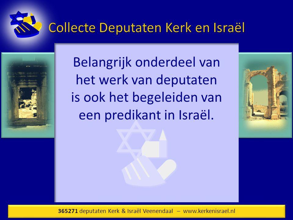 Belangrijk onderdeel van het werk van deputaten is ook het begeleiden van een predikant in Israël.