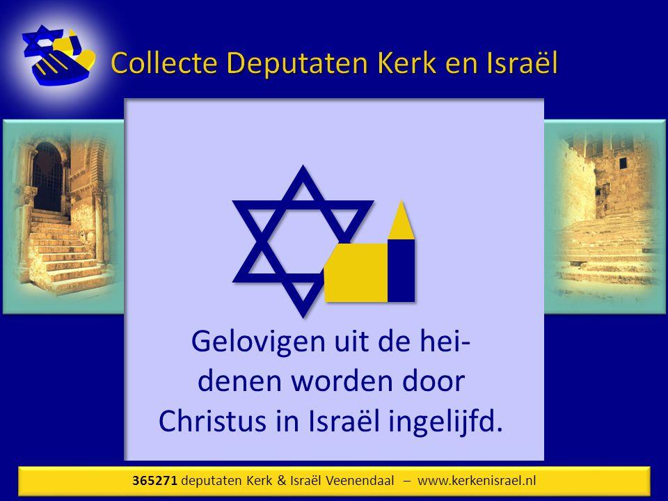 Gelovigen uit de hei- denen worden door Christus in Israël ingelijfd.